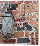 Brick Light Wood Print