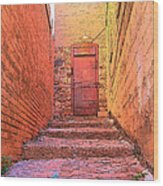 Old Stairs - Bisbee Az Wood Print