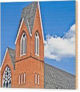 Brick Steeple Wood Print