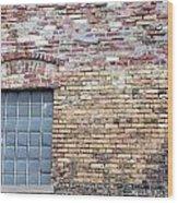 Brick Wall Window Wood Print