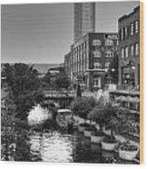 Bricktown Canal II Wood Print