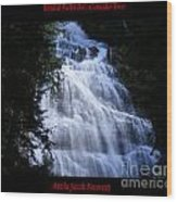 Bridal Falls B.c. Canada Two Wood Print
