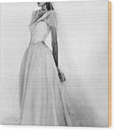 Bridal Gown, 1947 Wood Print