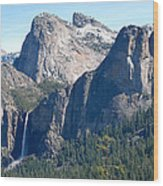 Bridalveil Wood Print