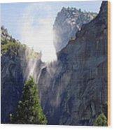Bridalveil Falls In Yosemite Wood Print