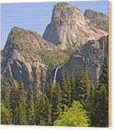 Bridalveil Falls Wood Print