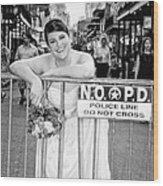 Bride On The Barricade On Bourbon St Nola Wood Print