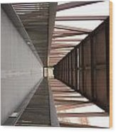 Bridge Abstract Wood Print
