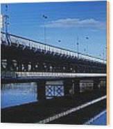 Bridge Across A River, Double-decker Wood Print
