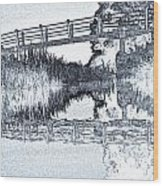 Bridge Across The River Wood Print