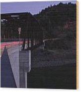 Bridge At Dusk Wood Print