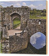 Bridge At Leeds Castle Wood Print