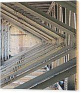 Bridge Geometry Wood Print