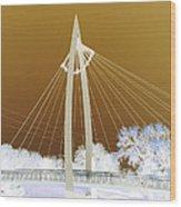 Bridge Iced Wood Print by David Alvarez
