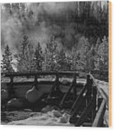 Bridge In Mud Volcano Area Wood Print