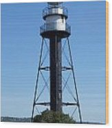 Bridge Lighthouse Wood Print