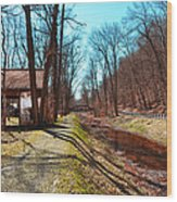 Bridge Number 2 Along The Delaware Canal Wood Print