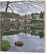 Bridge Over Lima River Wood Print