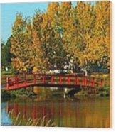 Bridge Over Placid Waters Wood Print