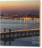 Bridge Over Tagus Wood Print