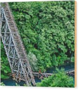 Bridge Over The Lazy River Wood Print