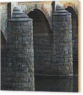 Bridge Pillars Wood Print