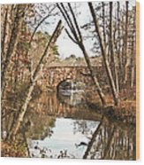 Bridge Reflections Wood Print