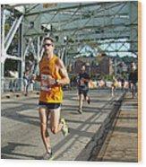 Bridge Runner Wood Print