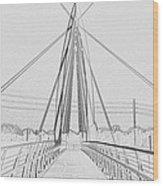 Bridge Sketch Wood Print by David Alvarez