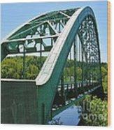 Bridge Spanning Connecticut River Wood Print