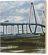Bridge To Charleston Wood Print