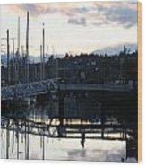 Bridge To The Future Wood Print