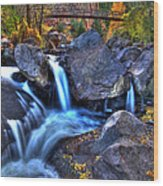 Bridge To The Seasons Wood Print