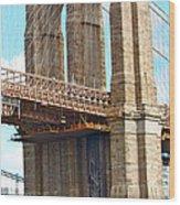 Bridge View One Wood Print