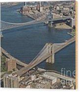 Bridges Of New York City Wood Print