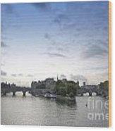 Bridges On River Seine. Paris. France Wood Print