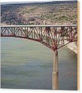 Bridging The Canyon Wood Print