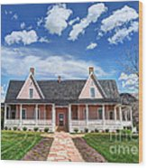 Brigham Young Forest Farm Home Wood Print