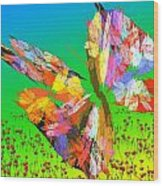 Bright Elusive Butterflys Of Love Wood Print