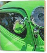 Bright Green Wood Print