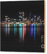 Bright Lights Big City Wood Print