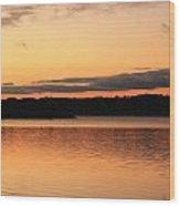 Bright Morning Skies On The Lake Wood Print