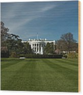 Bright Spring Day At The White House Wood Print
