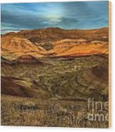 Brightly Painted Hills Wood Print