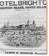 Brighton Beach Hotel, 1880 Wood Print