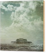 Brighton Seascape Wood Print by Paul Grand