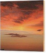 Brilliant Sunrise Over Montevideo Wood Print