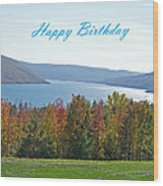 Bristol Harbor Birthday  Wood Print