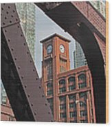 Britannica Building Chicago Illinois Wood Print