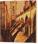 British Christian Cathedral  Wood Print